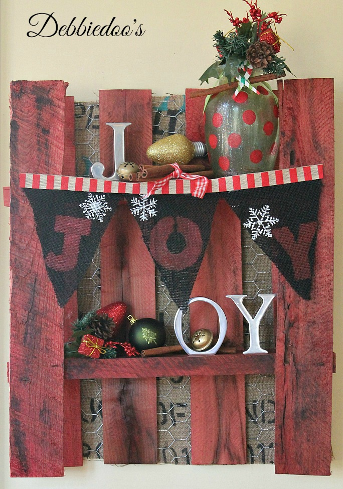 How to make a burlap banner for the holidays