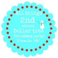 Second annual Dollar tree Christmas party announcement