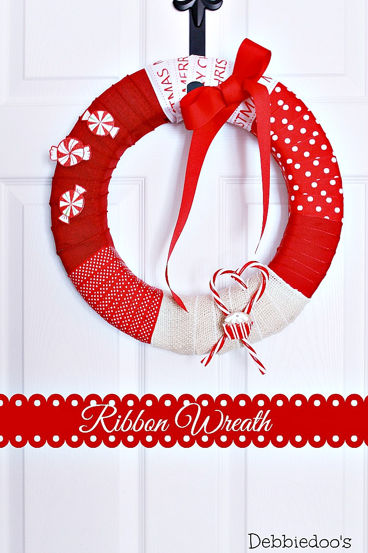 How to make a ribbon wreath with burlap and styrofoam