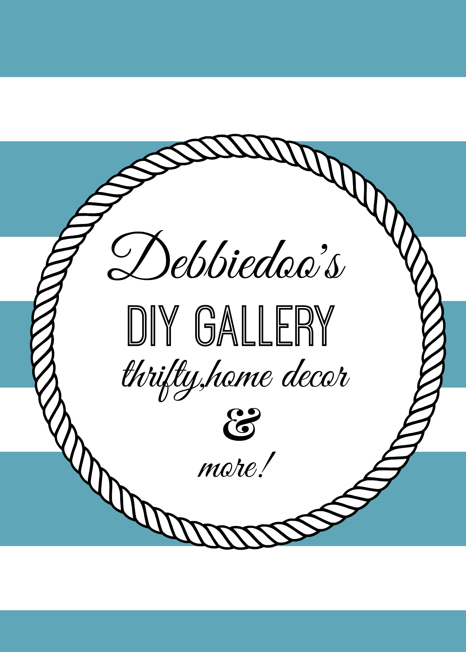 Debbiedoo's thrifty home decor and more