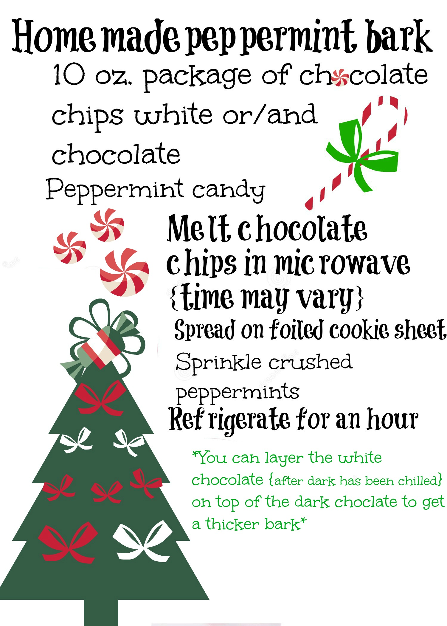 Home made peppermint bark