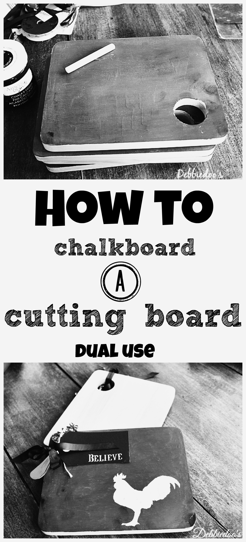 How to chalkboard a cutting board