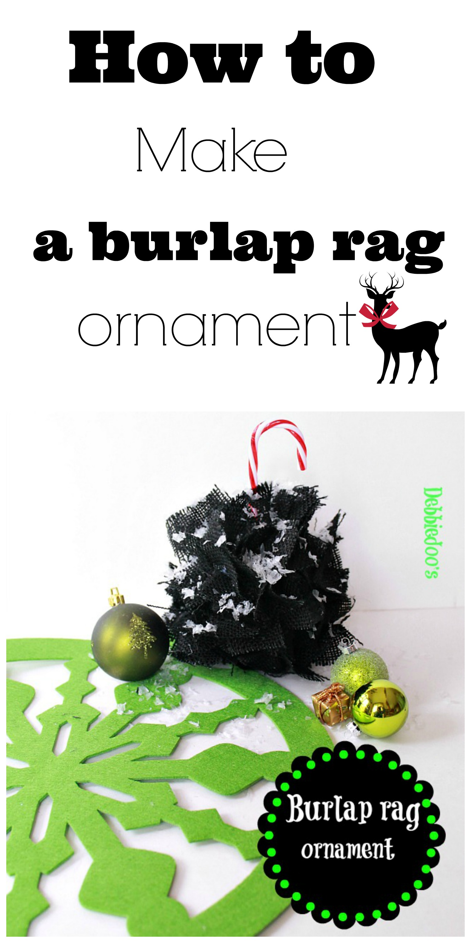 How to make a burlap rag ornament