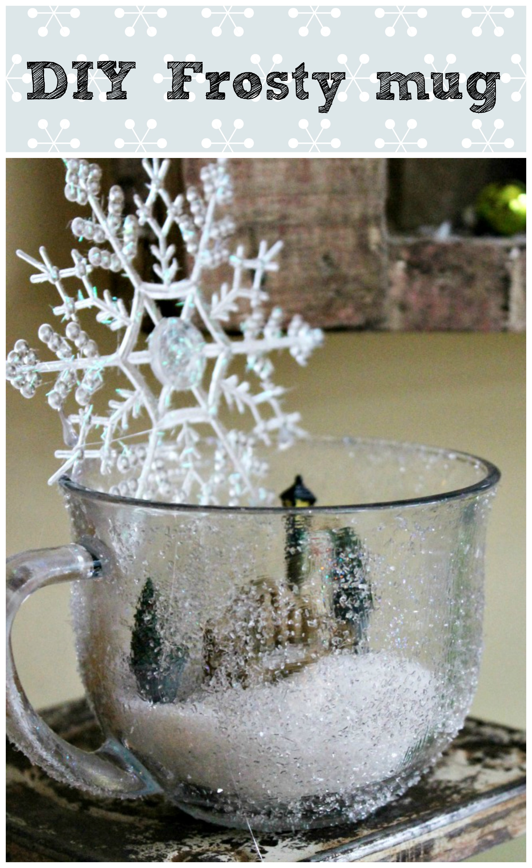 How to make your own frosty mug #dollartree #Sparkle #modpodge