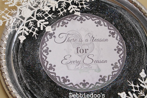 Winter tray diy from the dollar tree with free printable