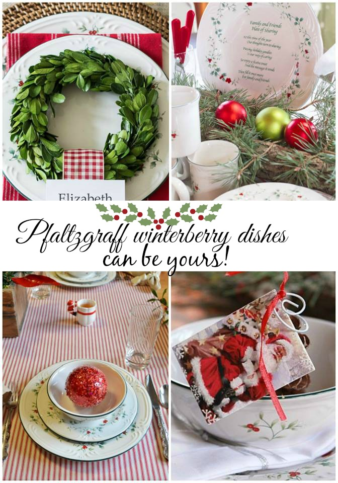 Pfaltzgraff winterberry dishes