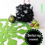burlap Christmas ornament 014