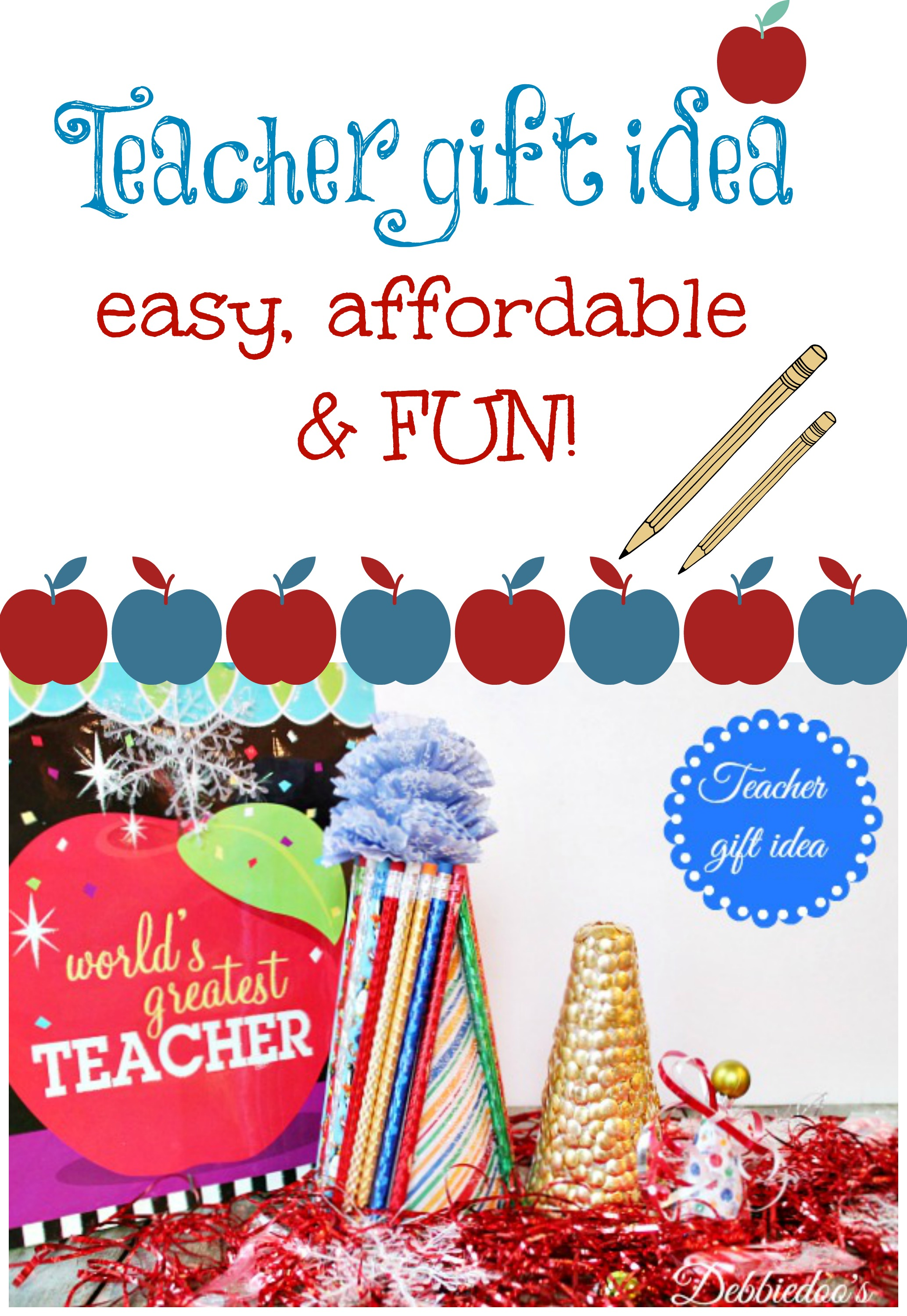 teacher gift idea with foam cones #floracraft,#dollartree,#modpodge