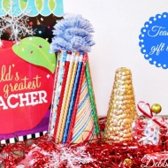 Diy teacher Christmas gift with Styrofoam