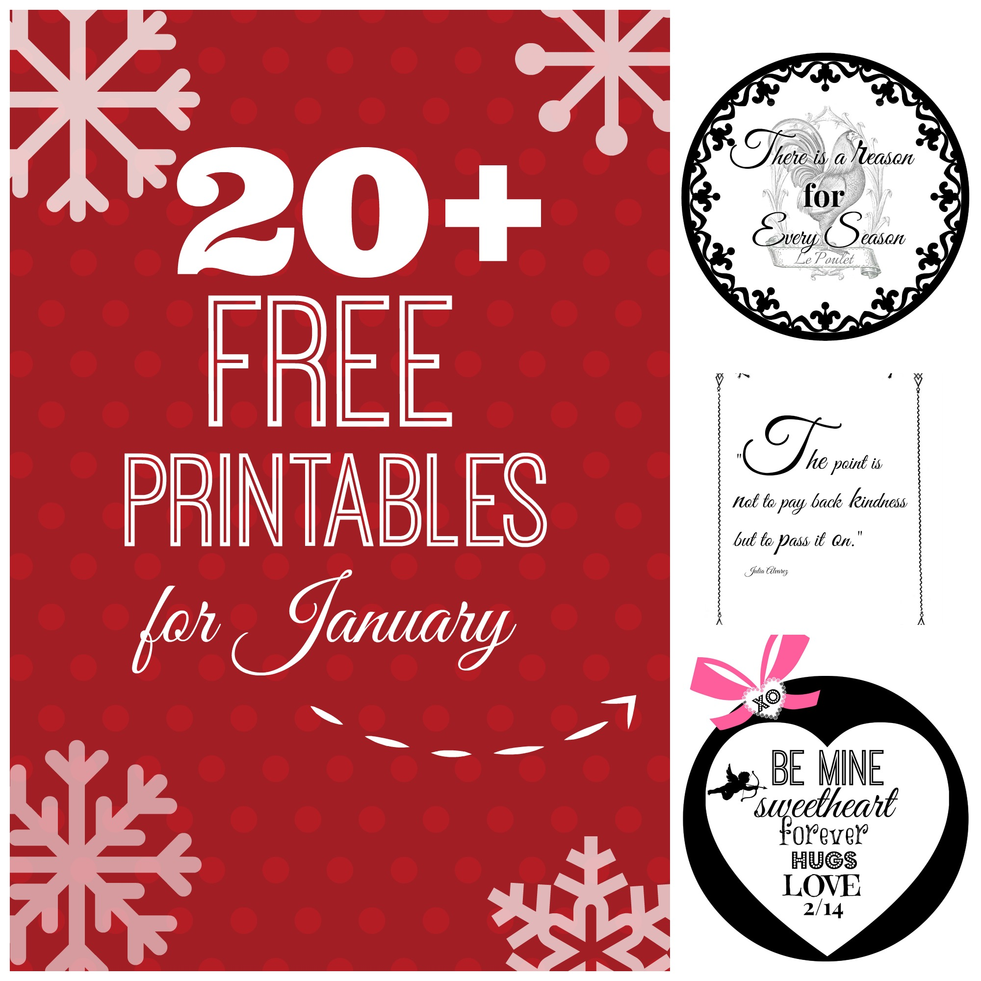 20 + free printables for January