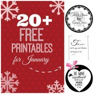 20+ Free printables for January