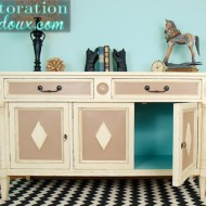 Goodwill vintage buffet makeover