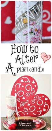 How to alter a plain glass pillar candle