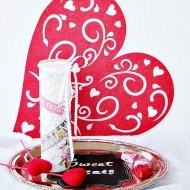 Mod podge and Dollar tree Valentine candle