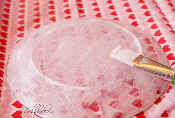 diy candy dish from dollar tree with sparkle mod podge