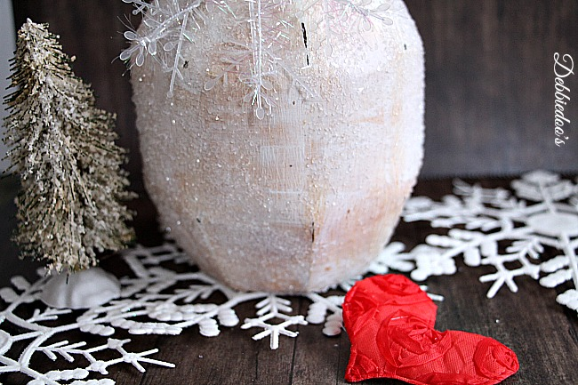 diy chalk paint winter bottle