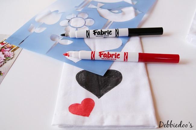 diy valentine napkins 024