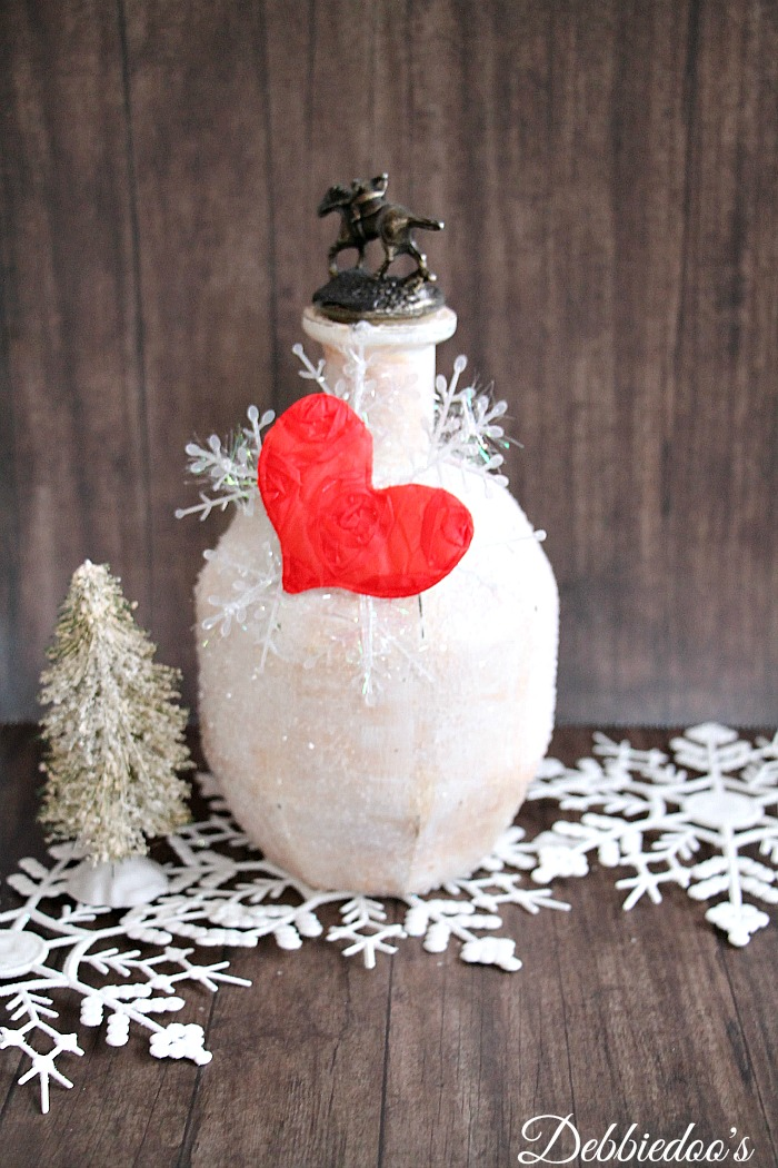 diy winter recycled bottle craft