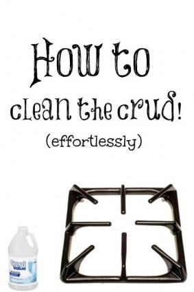 Cleaning stove grates with ammonia