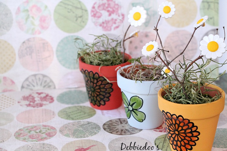 mini terra cott pots