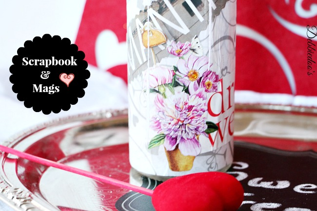 mod-podge-pillar-dollar-tree-candle Mod podge and Dollar tree Valentine candle