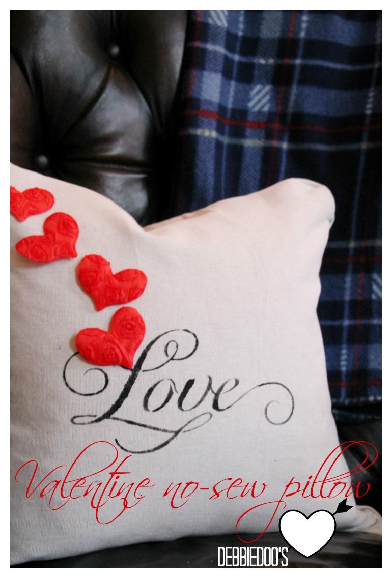 valentine pillow no sew pillow