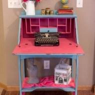 Vintage secretary desk redo