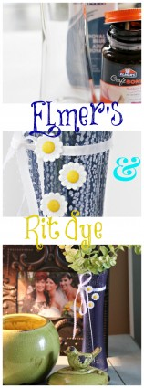 Elmer's and Rit dye vase