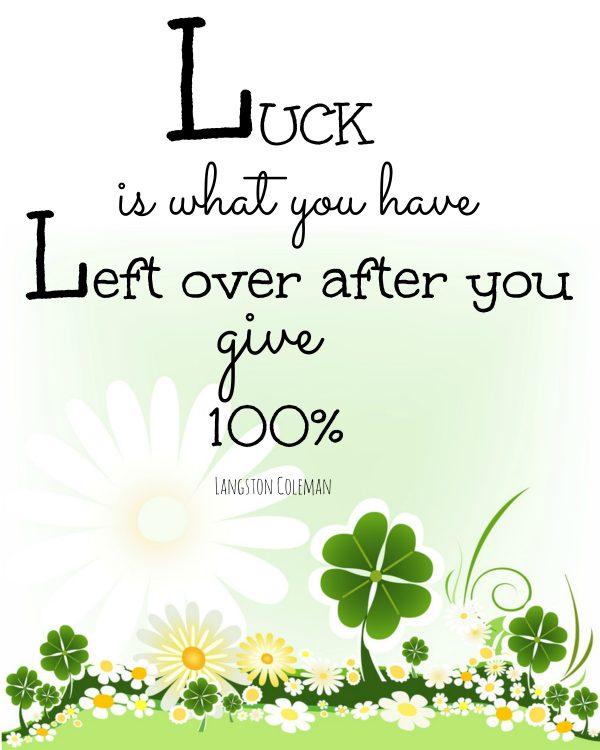 Luck printable
