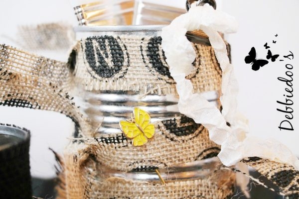 #burlap tin cans #recycle