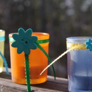 #elmers glue and rit dye votives