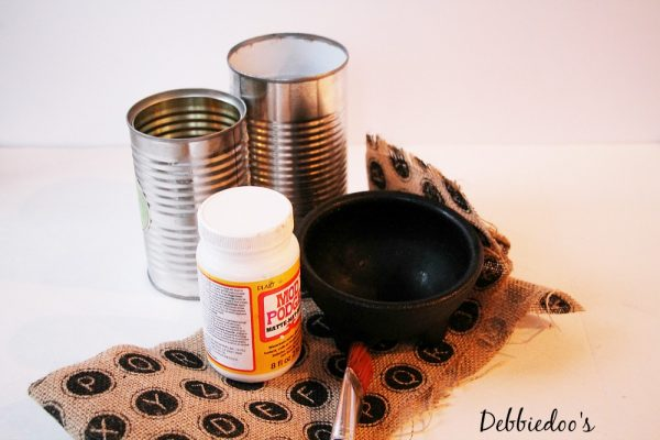 mod podge cans for office desk
