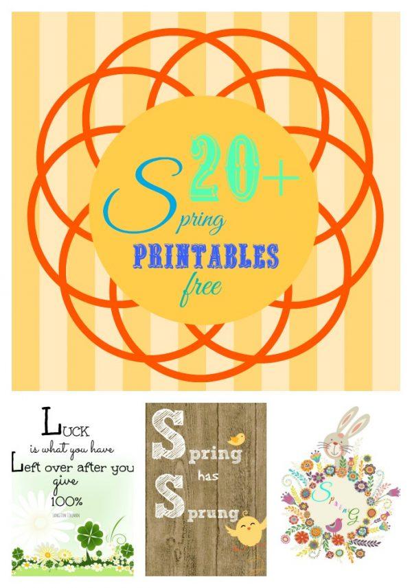 20+ Spring printables