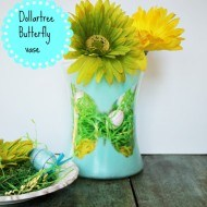 Dollar tree Butterfly silhouette vase