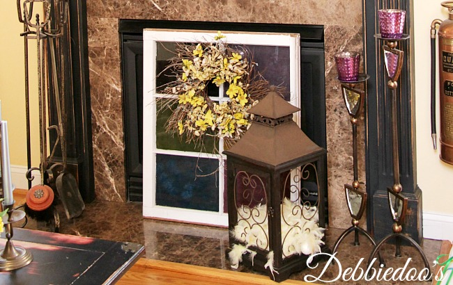 Faux stained window at Spring