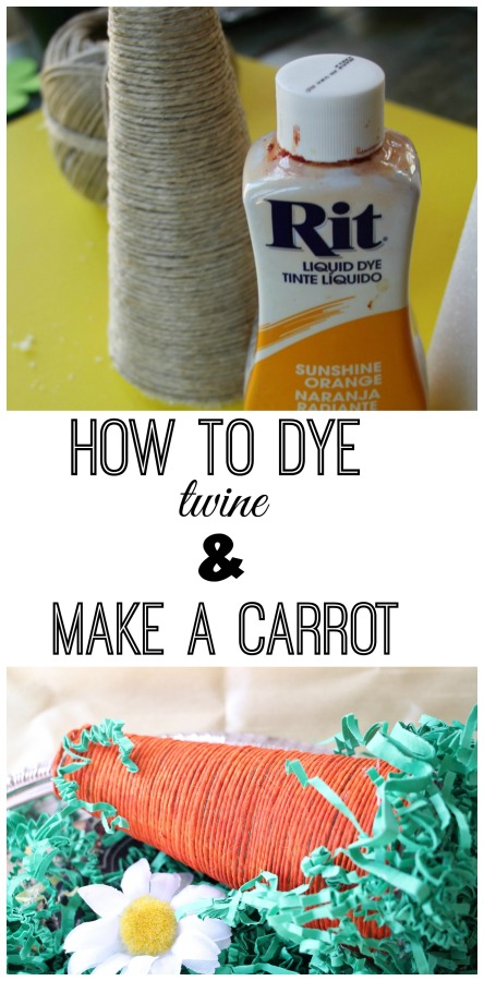 How to make a cone foam carrot