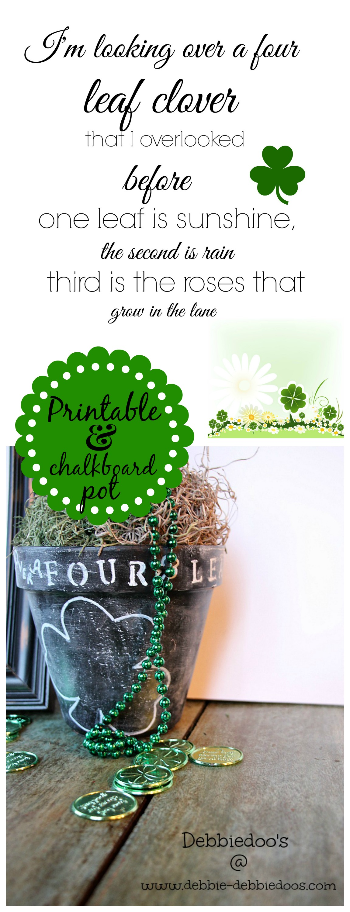 Printable and chalkboard pot