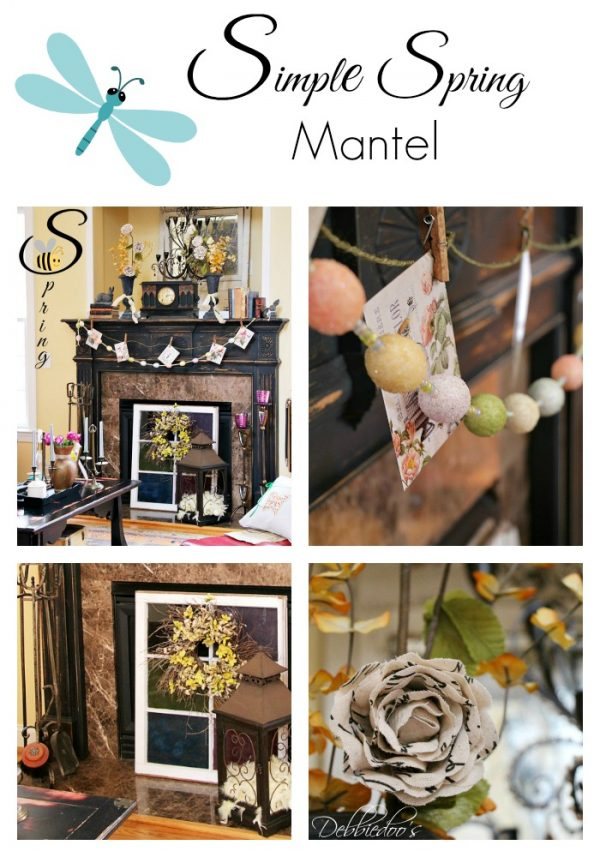 Simple Spring mantel in the south