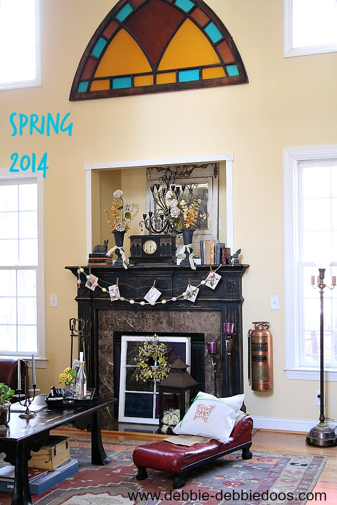 Spring-mantel-2014 Simple Spring mantel in the South