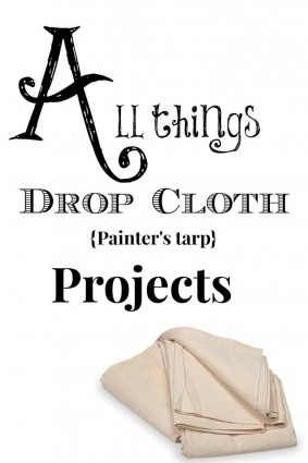 All things drop cloth projects