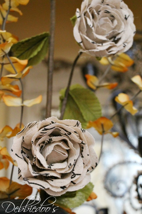 burlap script flowers