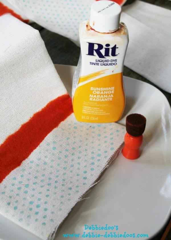 diy drop cloth napkins for Spring 002