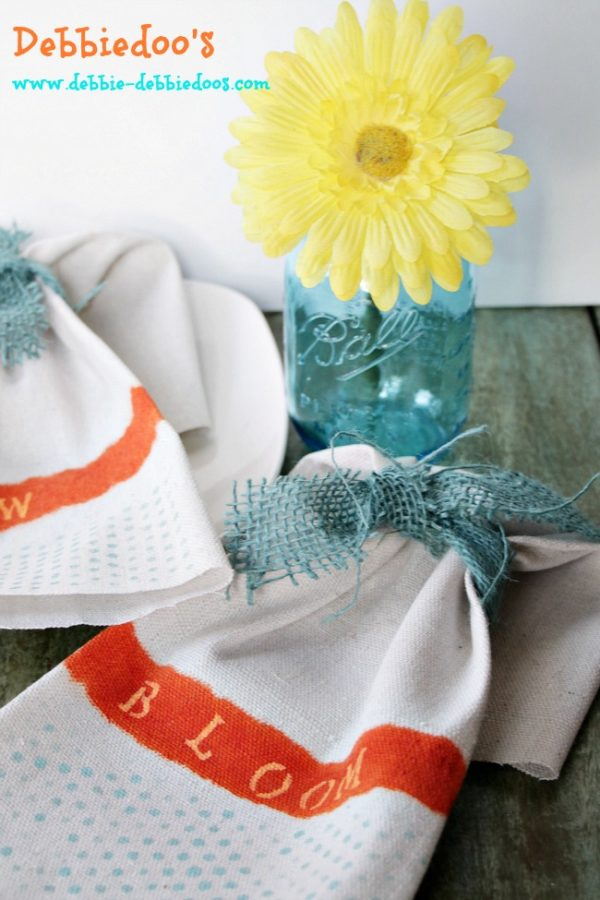diy drop cloth napkins for Spring 023