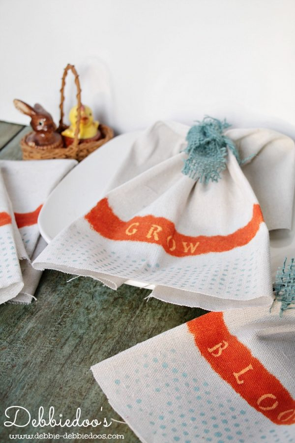 diy drop cloth napkins for Spring