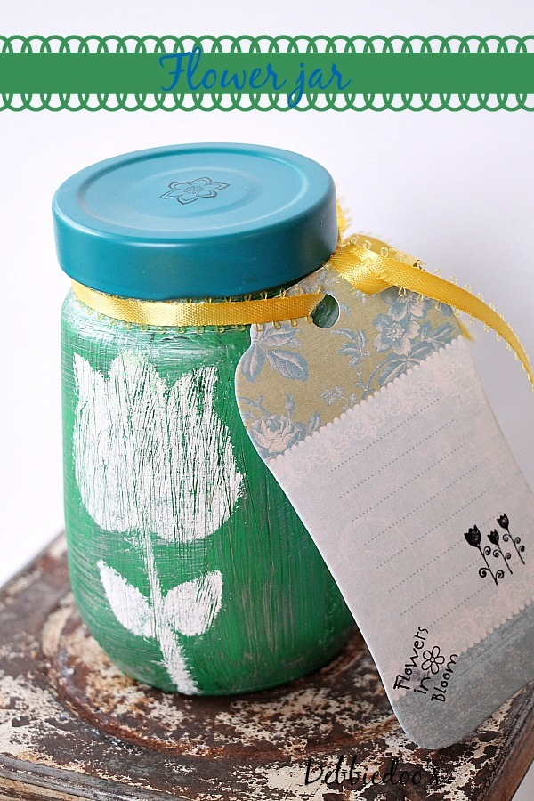 recycled jar flower soy candle