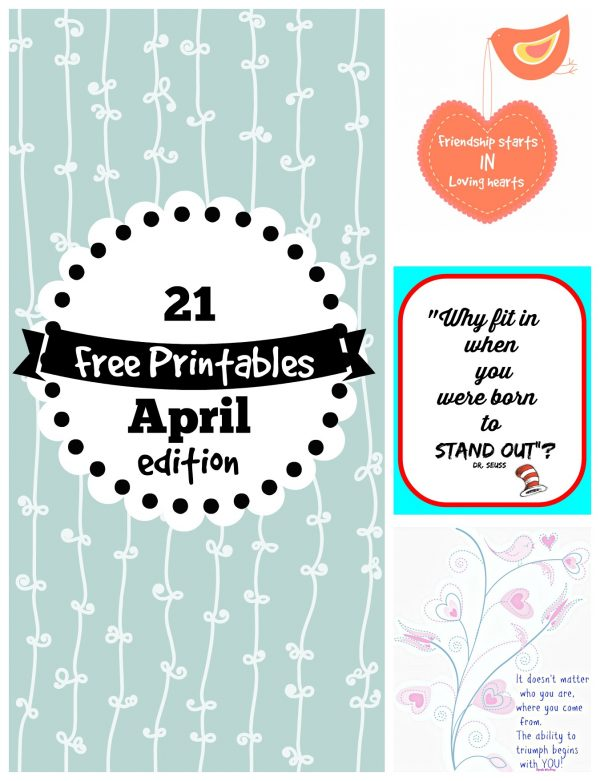 21 Free Printables for April
