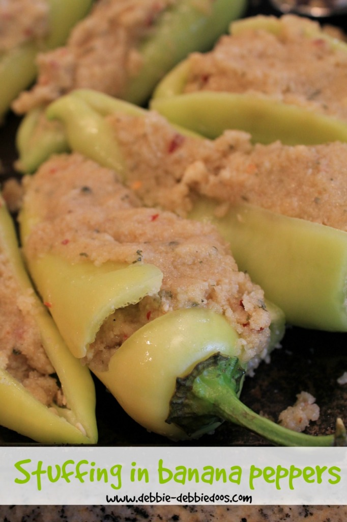 Banana peppers stuffed