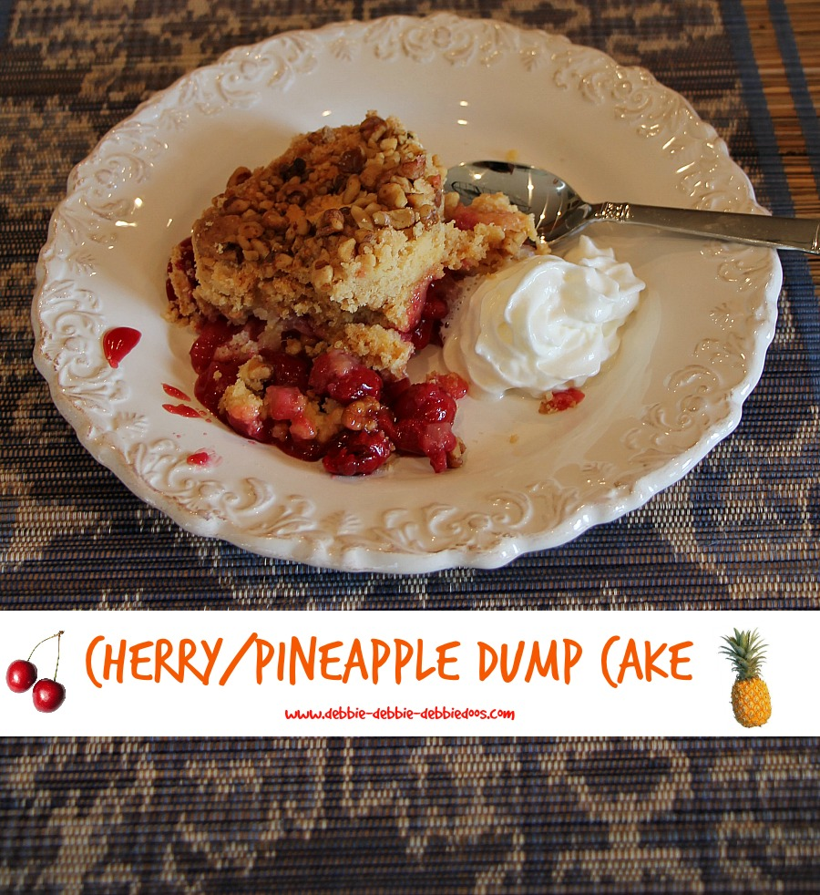 How to make a cherry pineapple dump cake 022