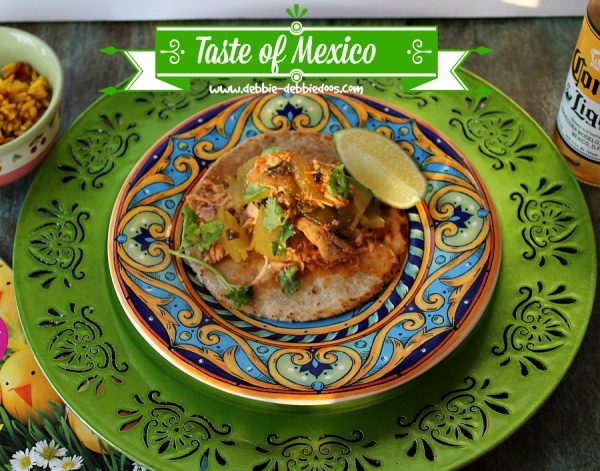 Taste of Mexico with Green chicken chile tacos