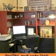 My functional office space and decor
